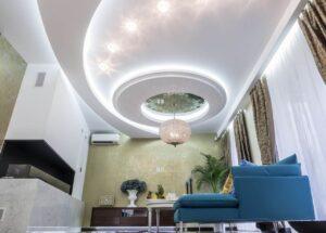Фото многоуровневые натяжные потолки Александра потолок