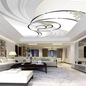 Фото натяжные потолки в гостиную