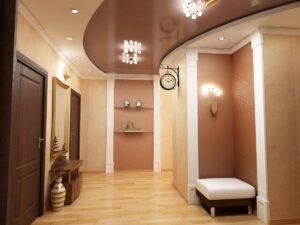 Фото натяжные потолки в коридор